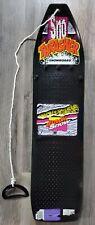 "Vintage Sno Thrasher Black Snow Green Base with Blades 36"" Snowboard USA Made"