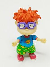 Rugrats Chuckie Rubber Pvc Keychain Key Chain Ring 90s Poseable Vintage Euc