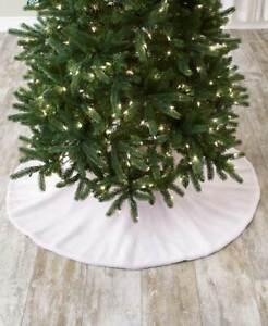 Large 48'' Diameter White Cloud of Snow Christmas Tree Skirt