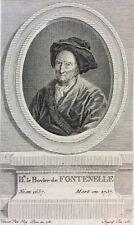 Bernard Le Bouyer ou Le Bovier de Fontenelle Ingouf c 1782 Philosophe écrivain