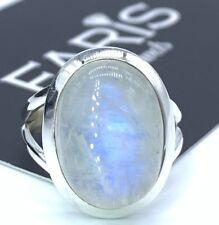 925 Sterling Silver Ladies Moonstone Oval Cut Ring Gemstone Jewellery Gift