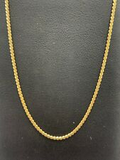 18ct 18K Yellow Gold Italian Fine S Link Chain Necklace 4.1 Grams 52cm. New