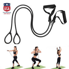 Home Exercise Sports Elastic Fitness Yoga Pull Rope Tube Gym Resistance Band US