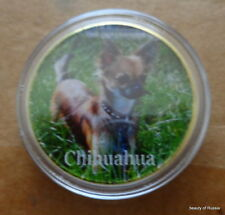 Dog Chihuahua 24K GOLD  PLATED 40 mm   COIN