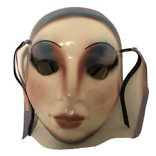 Vintage Ceramic Face mask  - Wall Hanging Decor