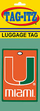 Miami Hurricanes Luggage Tag