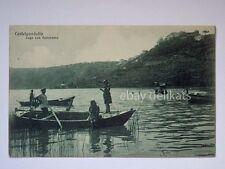 CASTEL GANDOLFO Lago panorama barca animata Roma vecchia cartolina