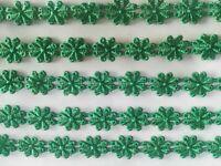 2 METER GPO Spitze 2cm breit Elegante Grün Nichtelastisch