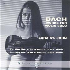 Bach Works for Violin Solo (CD, Jul-1996, Well-Tempered Productions)