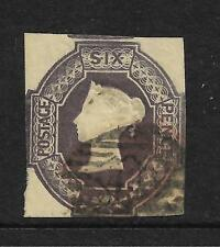 QUEEN VICTORIA 1854 EMBOSSED 6d PURPLE NEATLY CUT SQUARE  REF 956