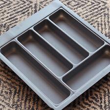 Grey Textured Cutlery Tray for 450mm Drawer | Blum Metabox | Kitchen Storage