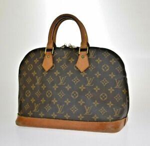 AUTHENTIC LOUIS VUITTON LV ALMA HAND BAG MONOGRAM LEATHER BROWN M51130 39JD119