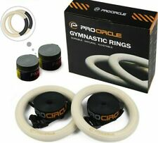 Wood Gymnastic Rings Fitness Straps Adjustable Training Strength Home Adult Gym