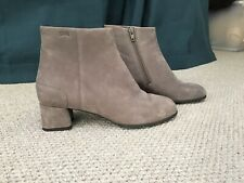 Camper Grey Suede Ankle Boot Size 5/38 New!