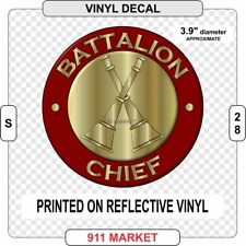 Battalion Chief Rank Decal Firefighter Fire Department Insignia Sticker     S 28