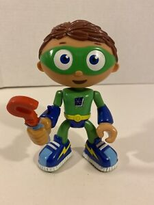 "Super Why WYHATT w/ Spinning Wand 6"" Action Figure PBS Kids (Missing Cape)"