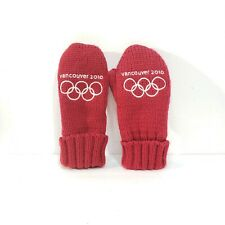 Vancouver Winter Olympics 2010 Mittens Size S/M Team Canada Red Gloves