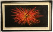 "1970's Original Oil Painting ""Star Burst"" Unsigned image size 61cm x 30.5cm"