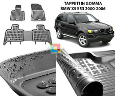 Per BMW x5 e53 anno 04.00-02.07 Tappetini 4 pezzi in Velluto Nero Deluxe