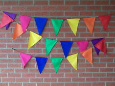 balinese 20 plain triangle flags bunting small 5 mtr mixed rainbow colours