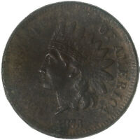 1873 Indian Head Cent Open 3 Very Fine Penny VF Details Rough See Pics G622