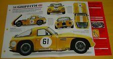 1964 TVR Griffith Race Car 289 Ford V8 4727cc 271 hp IMP Info/Specs/photo 15x9