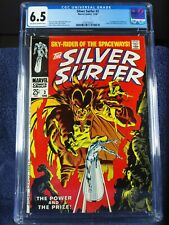 Silver Surfer #3, CGC 6.5, 1968, ow/w pages, new slab