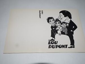 Lou Dupont Las Vegas World Renown Ventriloquist White show request pad