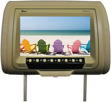 "Tview T939DVPLTAN 9"" Headrest Monitor With Dvd Player Sold In Pairs Tan"