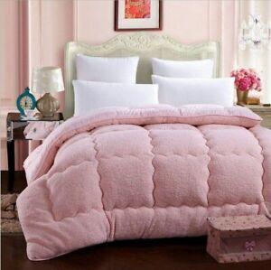 Warm Velvet Blanket Wool Quilt Cashmere Thick King Queen Double Comforter Duvets