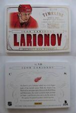 2013-14 Panini National Treasures T-IL Igor Larionov 92/99 red timeline jersey