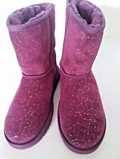 NEW UGG Classic Short Boot Sparkle Purple Sz US 6/ UK 5 /EU 36/ Jap 24.5  Authen