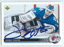 Jacques Cloutier signed 1992-93 Upper Deck Quebec Nordiques autograph #324