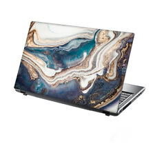 "TaylorHe Laptop Skin 13-14"" Vinyl Sticker Decal Cover Abstract Blue White Marble"
