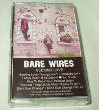 BARE WIRES Seeking Love (2010) Cassette Tape Indie Rock Power Pop Burger RARE