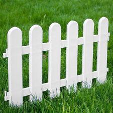 12pack Plastic Fence Panel Garden Border Landscape Edging Yard Fencing Decor