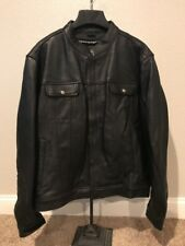 Crank & And Stroker Breaker Leather Motorcycle Jacket Black Size 46