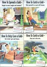 Original Disney Posters HOW TO CATCH A COLD Child Education Vintage Kleenex Ad