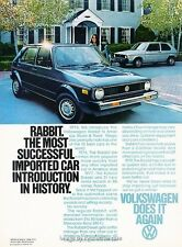 1978 Volkswagen VW Rabbit - Original Advertisement Print Art Car Ad H89