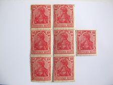 1 timbre + 2 blocs de 3 deutsches reich 10 Michel n° 71 ou 86 à étudier germania