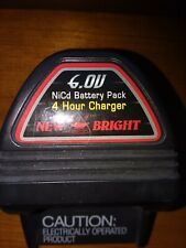 New Bright 6V NiCd Battery Pack Quick Charger plus Battery
