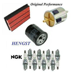 Tune Up Kit Air Oil Fuel Filters Spark Plug For INFINITI Q45 V8 4.1L 2001