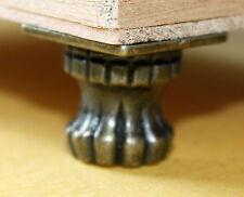 Standfüße Fuß 4 Stück Truhe Schatullen Schmuckkasten Bronze Retro Antik neu Z 03