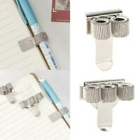 Metal Spring Pen Holder With Pocket Clip Doctors Nurse Uniform Pen Holders