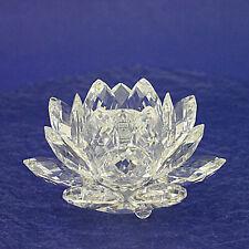 "Vintage Swarovski Crystal Medium Waterlily Candleholder 010001 - 10cm/4"" Diam."