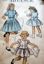 LOVELY VTG 1950s GIRLS DRESS ADVANCE Sewing Pattern 4