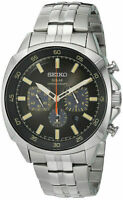 Seiko SSC511 Men's Recraft Black Dial Solar Chronograph Watch (PRE-OWNED)