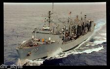 USS Roanoke AOR-7 postcard US Navy warship replenishment oiler