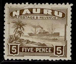 NAURU GV SG33A, 5d brown, M MINT.