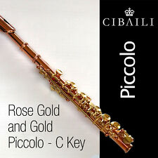 CIBAILI Rose Gold and  Gold-Plated PICCOLO • Complete with Case • BRAND NEW •
